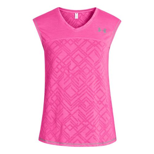 Kids Under Armour Girls Studio Sleeveless Tanks Technical Tops - Chaos XS
