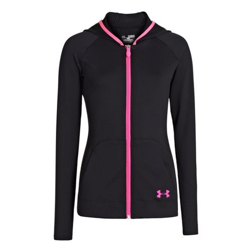 Kids Under Armour Girls Victory Running Jackets - Black/Chaos S