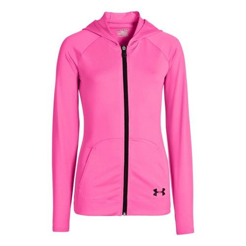 Kids Under Armour Girls Victory Running Jackets - Chaos/Black XS
