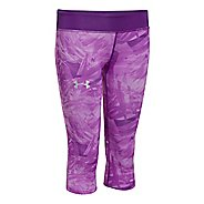 Kids Under Armour HeatGear Sonic Printed Capri Tights