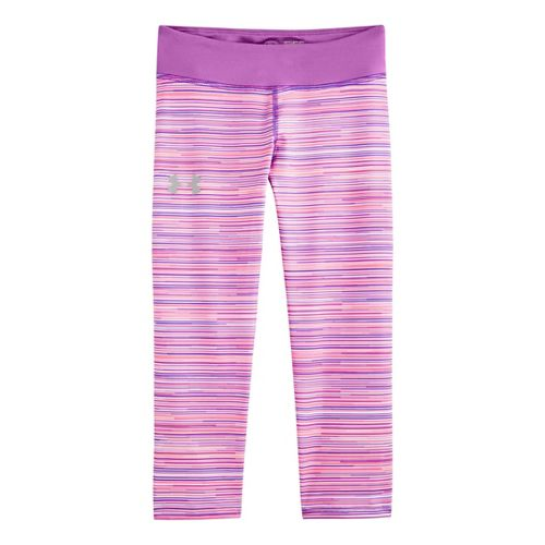 Kids Under Armour HeatGear Sonic Printed Capri Tights - Brilliance/Exotic Bloom L