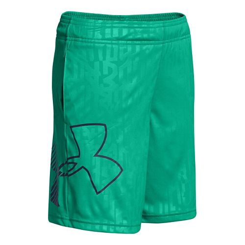 Kids Under Armour Boys Allover Unlined Shorts - Emerald Lake L