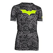 Kids Under Armour Boys Fitted Baselayer Short Sleeve Technical Tops