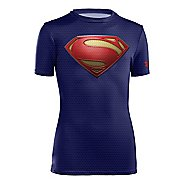Kids Under Armour Boys Alter Ego Fitted Base Short Sleeve Technical Tops