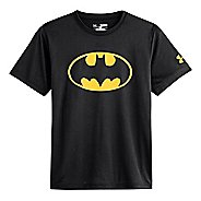 Kids Under Armour Boys Batman T Short Sleeve Technical Tops