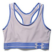Womens Under Armour Mid Sports Bras - Cloud Grey/Mirror M