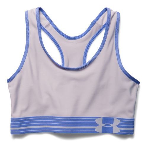 Womens Under Armour Mid Sports Bras - Cloud Grey/Mirror M