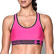 Womens Under Armour Mid Sports Bras - Rebel Pink/Black XS