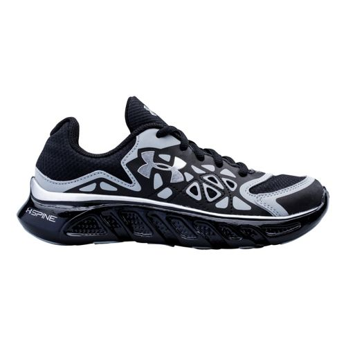 Kids Under Armour Boys PS Spine Surge Running Shoe - Black 2.5