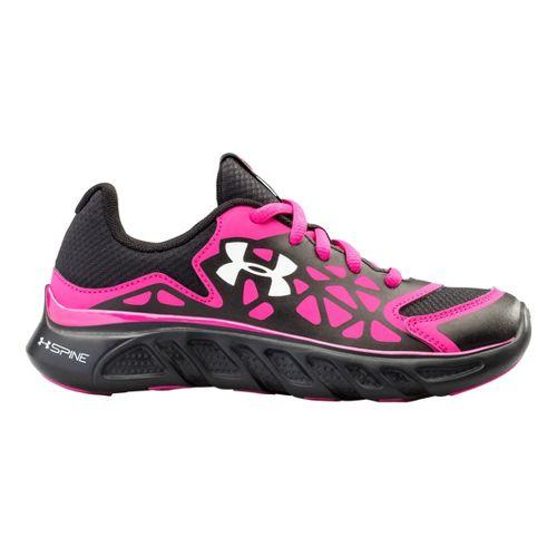 Kids Under Armour Boys PS Spine Surge Running Shoe - Black/Pink 10.5
