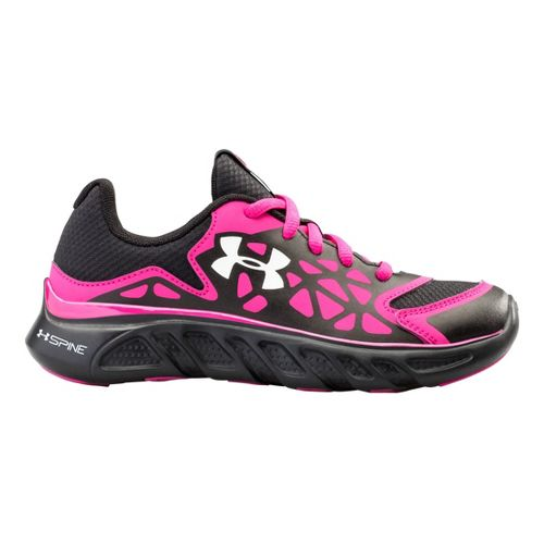 Kids Under Armour Boys PS Spine Surge Running Shoe - Black/Pink 11