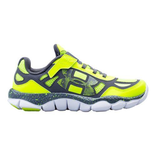 Kids Under Armour Boys PS Engage BL Running Shoe - Hi-Viz Yellow 2