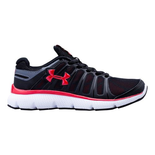 Kids Under Armour Boys PS Pulse II Running Shoe - Black/Red 11