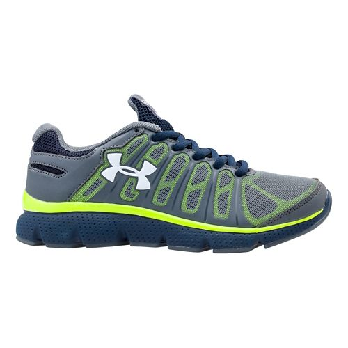 Kids Under Armour Boys PS Pulse II Running Shoe - Gravel 11.5