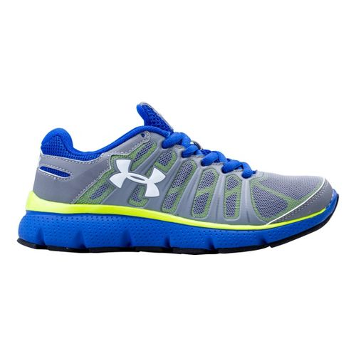 Kids Under Armour Boys PS Pulse II Running Shoe - Steel 13
