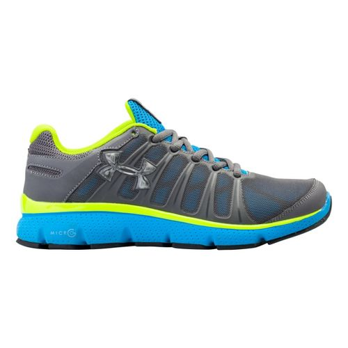 Kids Under Armour Boys GS Micro G Pulse II Running Shoe - Graphite 6