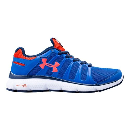 Kids Under Armour Boys GS Micro G Pulse II Running Shoe - Scatter 4.5