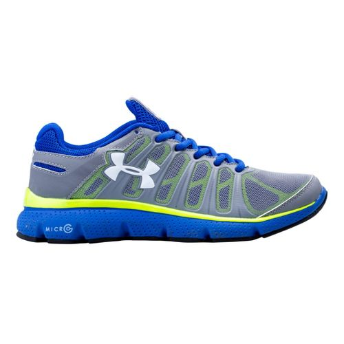 Kids Under Armour Boys GS Micro G Pulse II Running Shoe - Steel 5