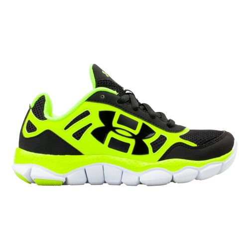 Kids Under Armour Boys PS Engage BL SH Running Shoe - Black 11.5