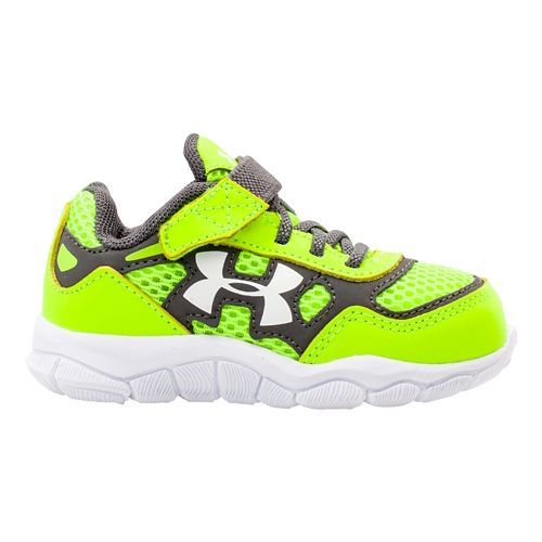Kids Under Armour Boys Infant Engage BL Running Shoe - Hi-Viz Yellow 2