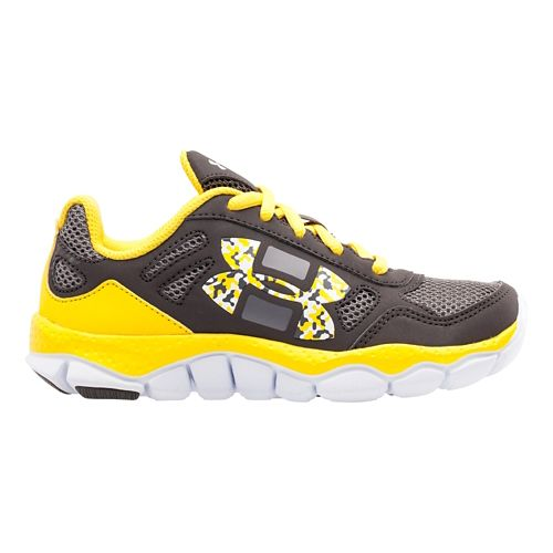 Kids Under Armour Boys PS Engage BL Running Shoe - Charcoal/Taxi 1