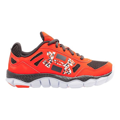 Kids Under Armour Boys PS Engage BL Running Shoe - Bolt Orange/Charcoal 13.5