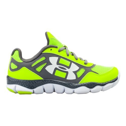 Kids Under Armour Boys PS Engage BL Running Shoe - Hi-Viz Yellow 13