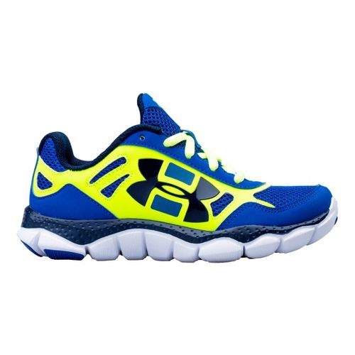 Kids Under Armour Boys PS Engage BL Running Shoe - Scatter 13