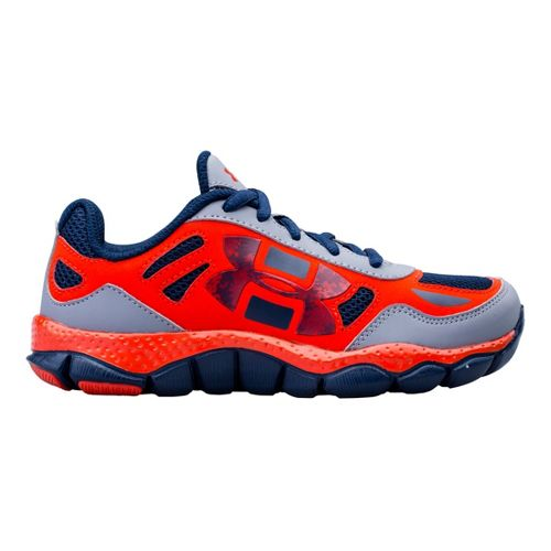 Kids Under Armour Boys PS Engage BL Running Shoe - Steel 12.5