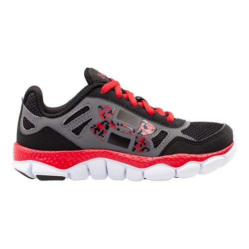 Kids Under Armour Boys PS Engage BL Running Shoe - Bolt Orange/Charcoal 11