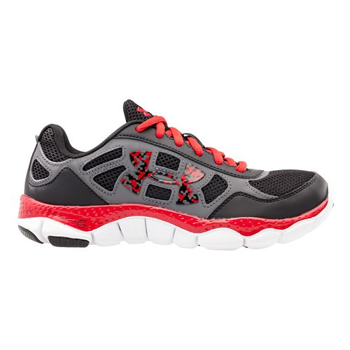 Under Armour Boys Micro G Engage BL Running Shoe - Black/Graphite 7Y