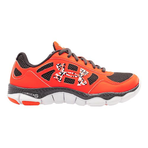 Kids Under Armour Boys GS Micro G Engage BL Running Shoe - Bolt Orange/Charcoal 5.5 ...