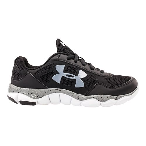 Kids Under Armour Boys GS Micro G Engage BL Running Shoe - Black 6