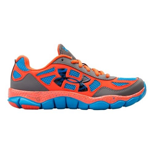 Kids Under Armour Boys GS Micro G Engage BL Running Shoe - Graphite 5