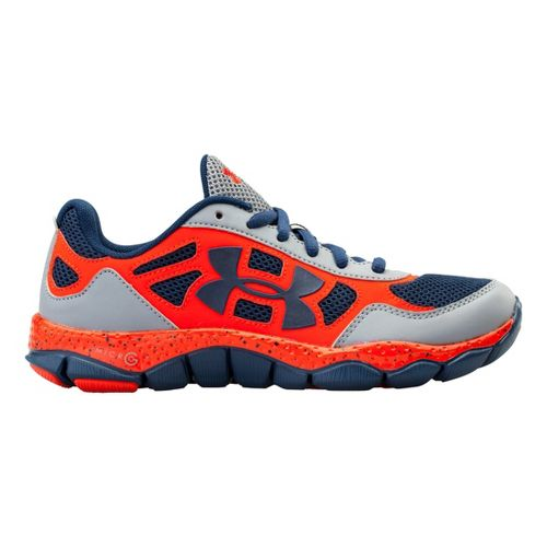 Kids Under Armour Boys GS Micro G Engage BL Running Shoe - Steel 4.5
