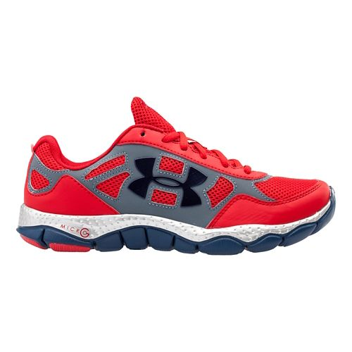 Kids Under Armour Boys GS Micro G Engage BL SH Running Shoe - Red 4.5 ...