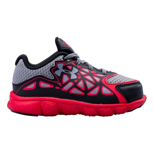 Kids Under Armour Boys Infant UA Spine Surge Running Shoe - Black/Red 4