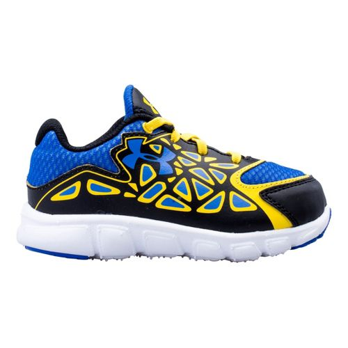 Kids Under Armour Boys Infant UA Spine Surge Running Shoe - Black/Taxi 7