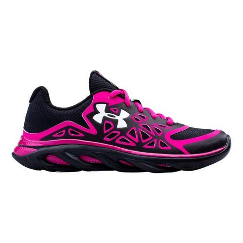 Kids Under Armour Boys GS Spine Surge Running Shoe - Black/Pink 4.5