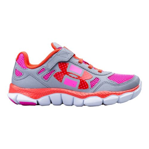 Kids Under Armour Girls PS Engage BL Alt Closure Running Shoe - Metallic Silver 12 ...