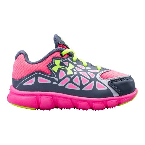 Kids Under Armour Girls Infant Spine Surge Running Shoe - Graphite 6