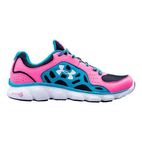 Kids Under Armour Girls GS Assert IV Trail Running Shoe - Anthracite 6.5
