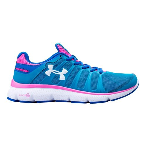 Kids Under Armour Girls GS Micro G Pulse II Running Shoe - Teal Ice 4 ...