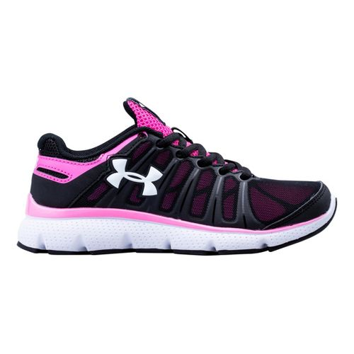 Kids Under Armour Girls PS Pulse II Running Shoe - Black 12.5