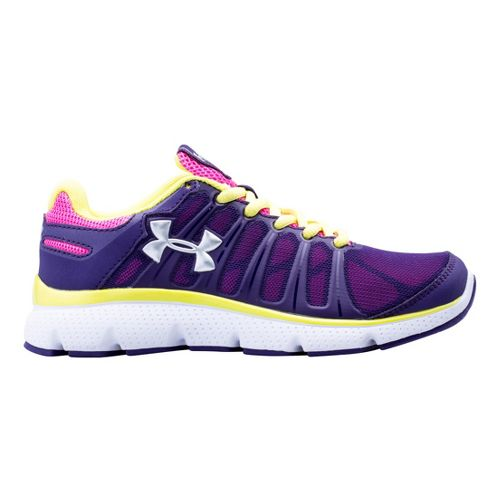 Kids Under Armour Girls PS Pulse II Running Shoe - Purple 2.5