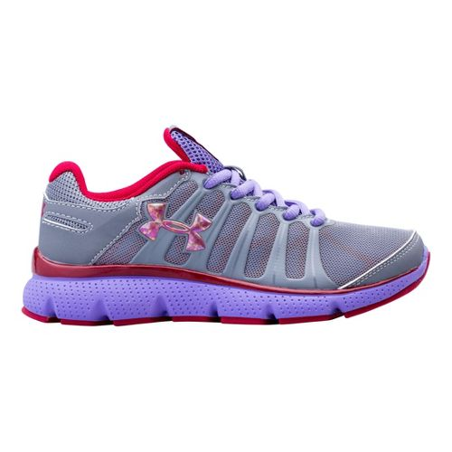 Kids Under Armour Girls PS Pulse II Running Shoe - Steel 12.5