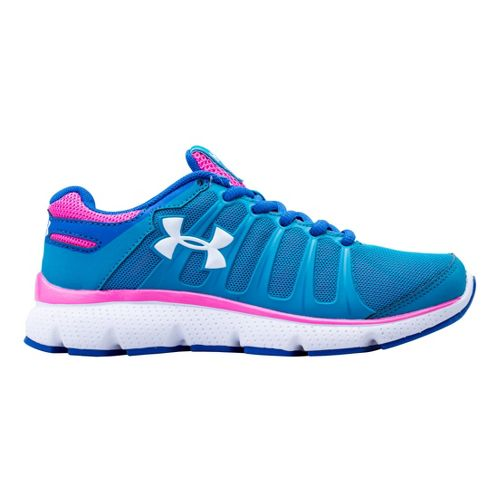 Kids Under Armour Girls PS Pulse II Running Shoe - Teal Ice 2.5