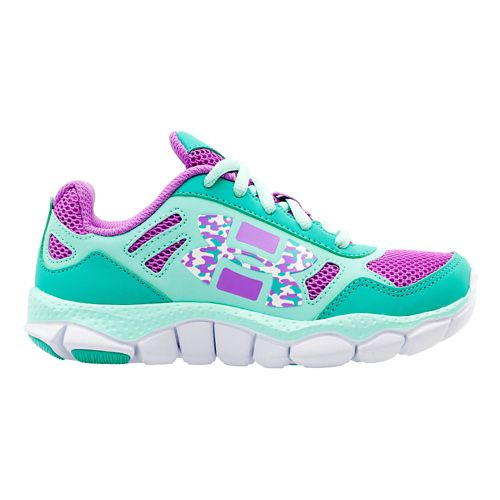 Kids Under Armour Girls PS Engage BL Running Shoe - Mosaic/Crystal 11.5