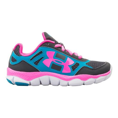 Kids Under Armour Girls PS Engage BL Running Shoe - Black 13.5