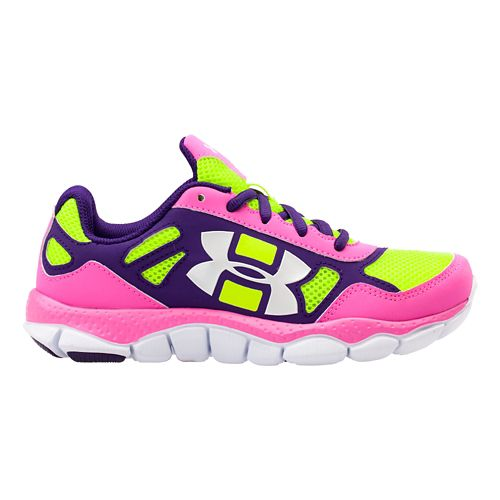 Kids Under Armour Girls PS Engage BL Running Shoe - Chaos 10.5